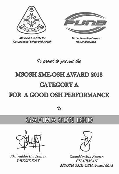 Good OSH Performance Category A